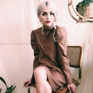 Vintage mod midi dress 1960s✌️